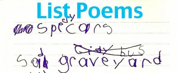 List Poems with Kids from Imagination Soup