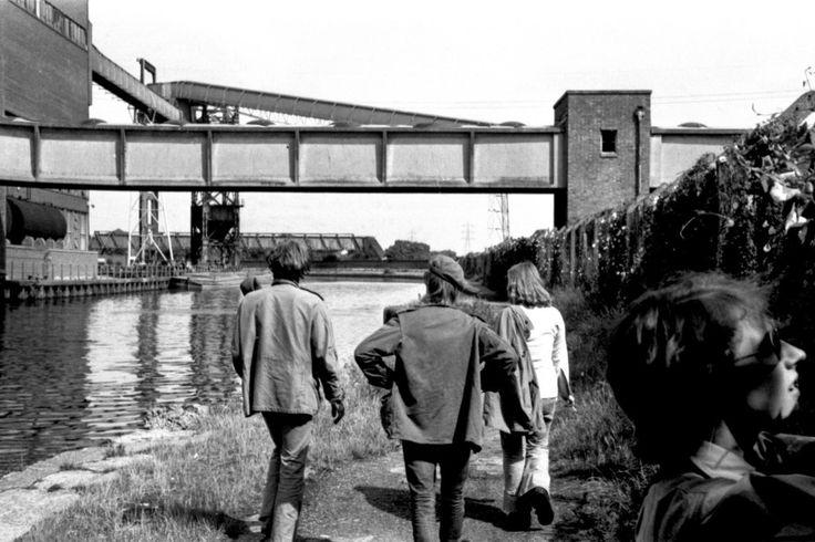 London, Hackney Marshes, River Lee Navigation, Millfields Power Station. 1973. By Helmut Zozmann