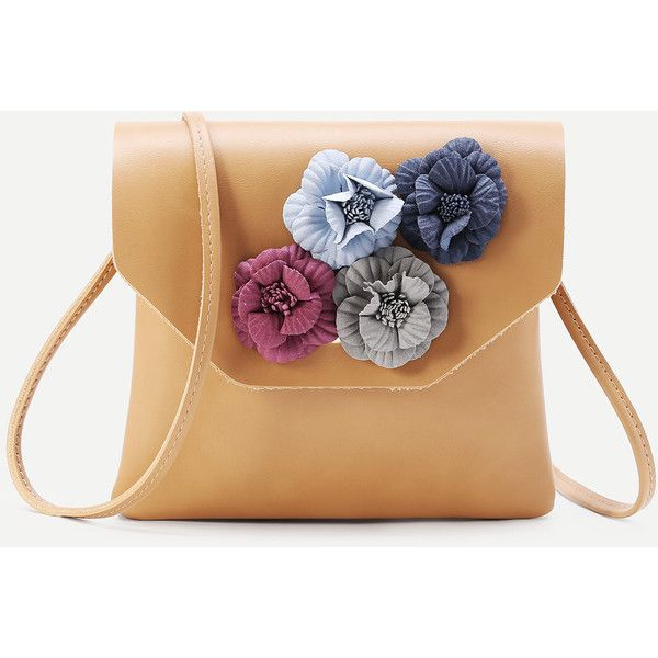 SheIn(sheinside) Flower Embellished PU Clutch Bag ($15) ❤ liked on Polyvore featuring bags, handbags, clutches, yellow, yellow clutches, pu purse, embellished purse, beige purse and yellow purse