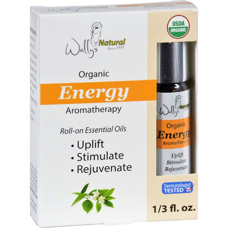 Wallys Natural Products Aromatherapy Blend - Organic - Roll-On - Essential Oils - Energy - .33 oz