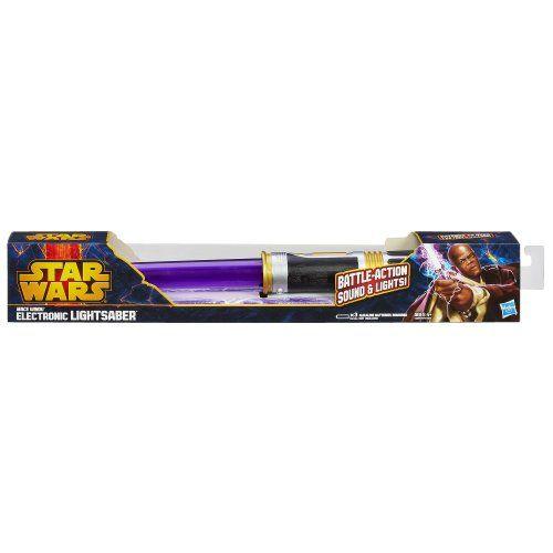 Star Wars Mace Windu Electronic Lightsaber Toy  http://www.bestdealstoys.com/star-wars-mace-windu-electronic-lightsaber-toy/