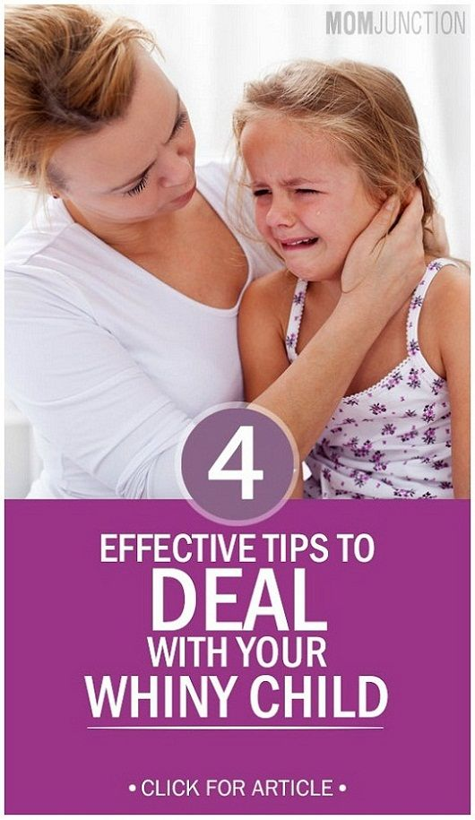 If you are troubled by your child's constant whining, don't worry. You are not alone as most of the parents go through this trying phase. Here are four brilliant tricks to deal with your whiny child!