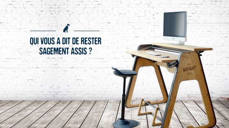 Flipboard premium Will and Walt - standing desk // bureau debout modulable et anticonformiste // standing desk - mobilier  - bureau  - design - team // Ergonomie - Design - Bien-être