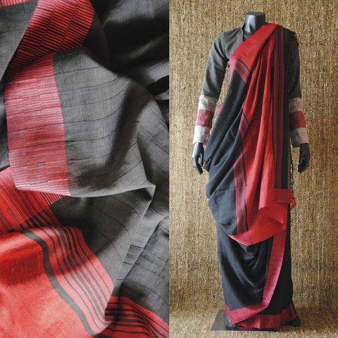 Chatai Paar Hand Woven Cotton Sari – father-land