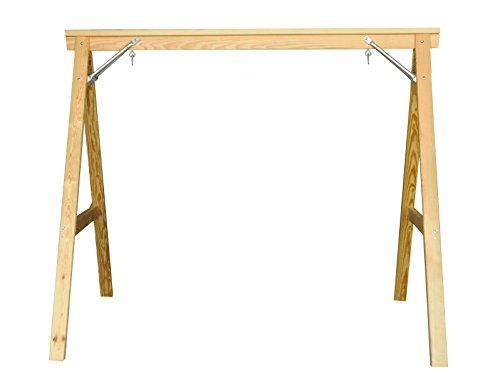 Eco-friendly Scandinavian Style Wood Porch Swing Stand for 4ft Swings Made in USA From Selected Treated Yellow Pine and Zinc Coated Fasteners Kingpatiofurniture http://www.amazon.com/dp/B00OI90RES/ref=cm_sw_r_pi_dp_52n6ub1ESNPVY