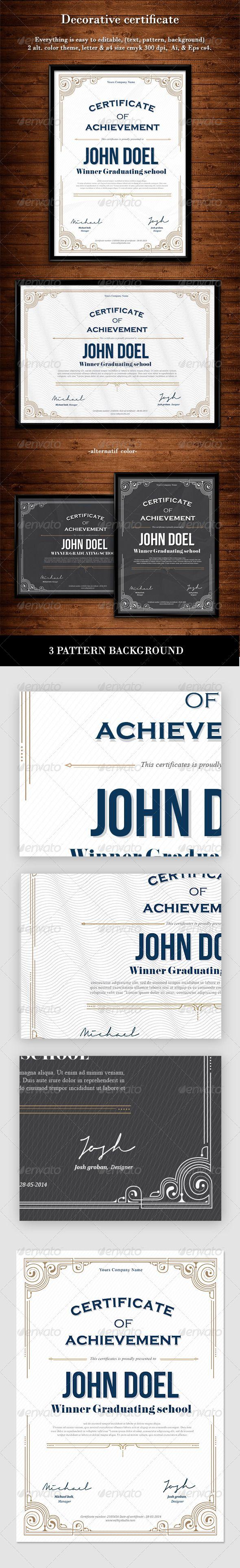 Decorative Certificate