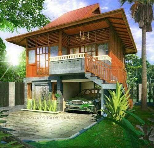 Wooden stilt house