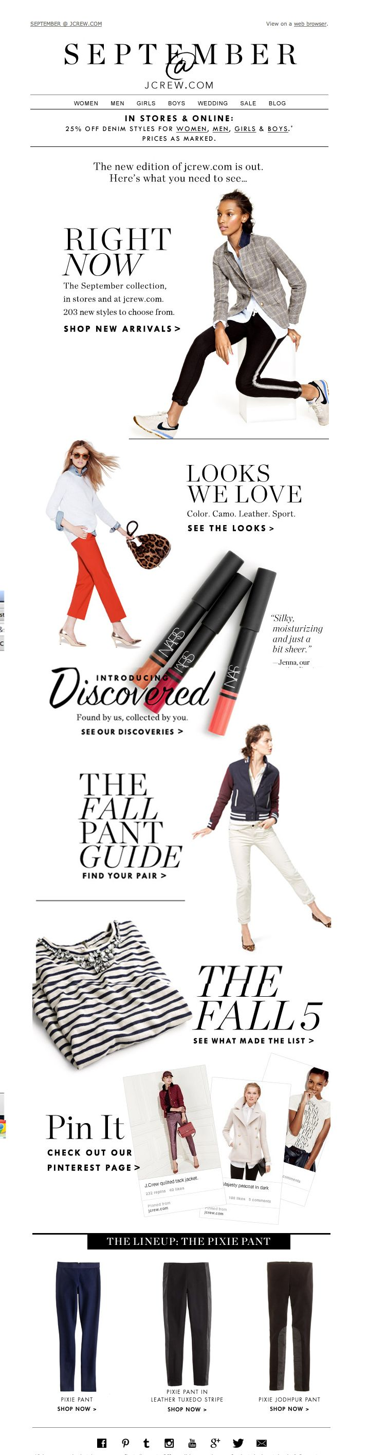 #newsletter J.Crew 09.2013 Subject: September at jcrew.com: what you need to see