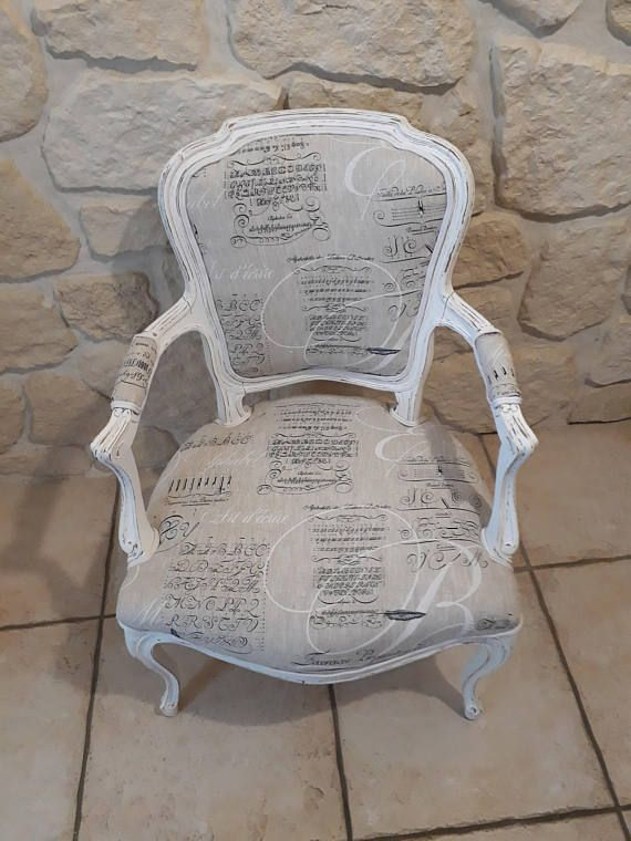 Fauteuil Louis Xv Entierement Relooke Et Patine A Furniture Makeover Chair Furniture