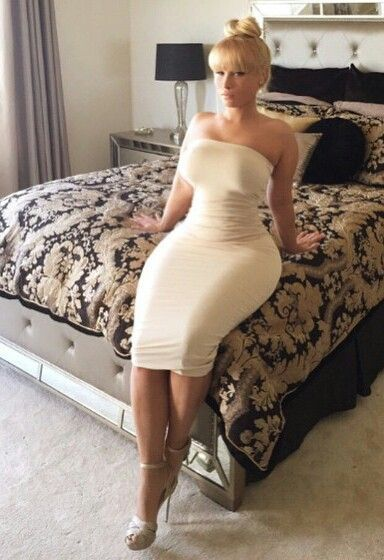 Mature in frock