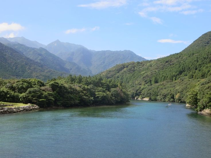 The Miyanoura River drains much of northern Yakushima Island, Japan.