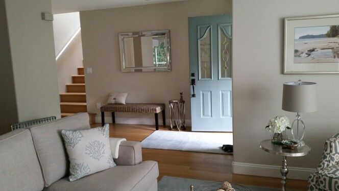Front door and bench seating - mirror needs to be lower. Next job!
