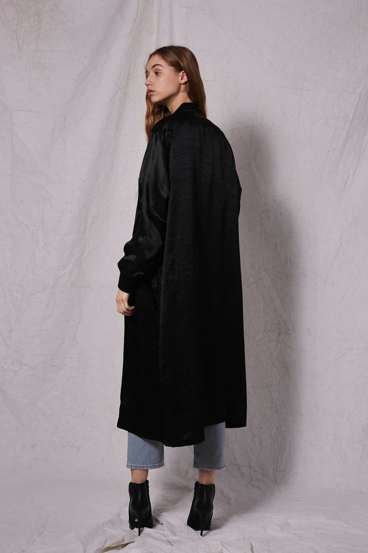 **Satin Duster Coat by Boutique | Topshop