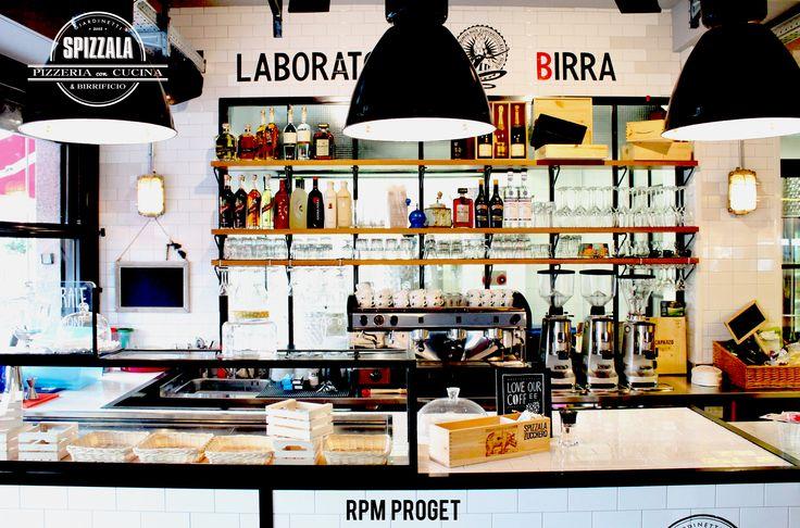 SpizZala - Pizzeria con cucina e laboratorio di birra. via dei Giardinetti n° 157 - Roma www.rpmproget.it