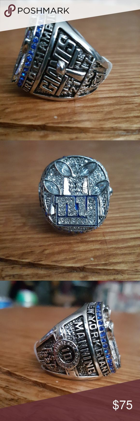 NY Giants super bowl ring peton manning ,htf, brand new Accessories Jewelry