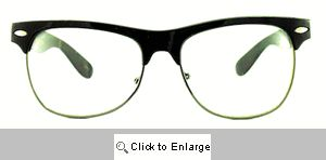 Taylor Thick Bridge Clubmasters Glasses - 101CL