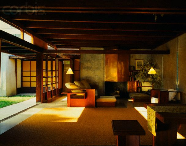 I remember visiting this house when I was 17. It's just as I remembered, especially the impression those little lamps make. Rudolph Schindler House