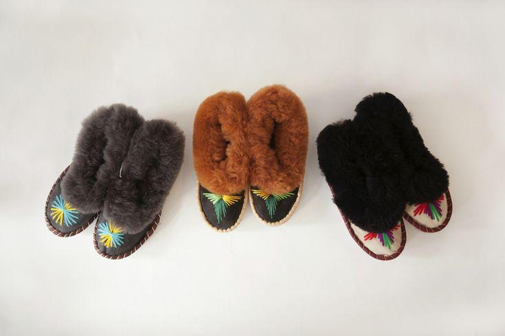 Handmade Womens Sheepskin Slippers - Trouva