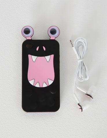 Set carcasa móvil y earphones Monster - Accesorios - Bershka España