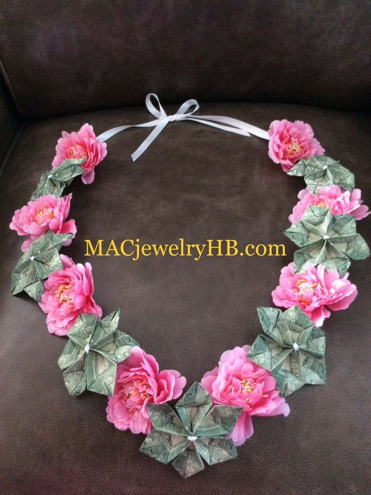 Pink Floral Money Lei