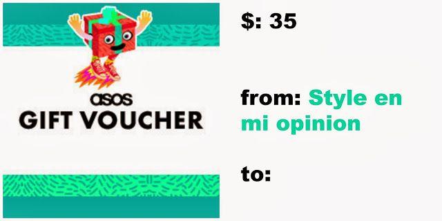 giveaway $35 Asos gift voucher