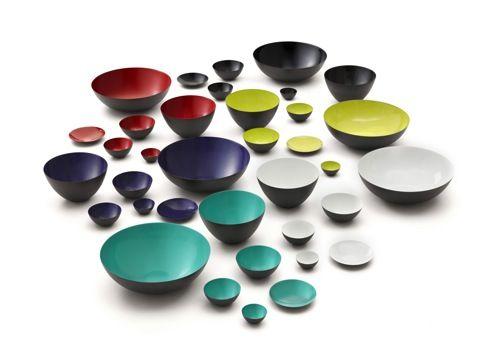 Normann Copenhagen has re-introduced the Krenit bowl, designed in 1953 by Herbert Krenchel.