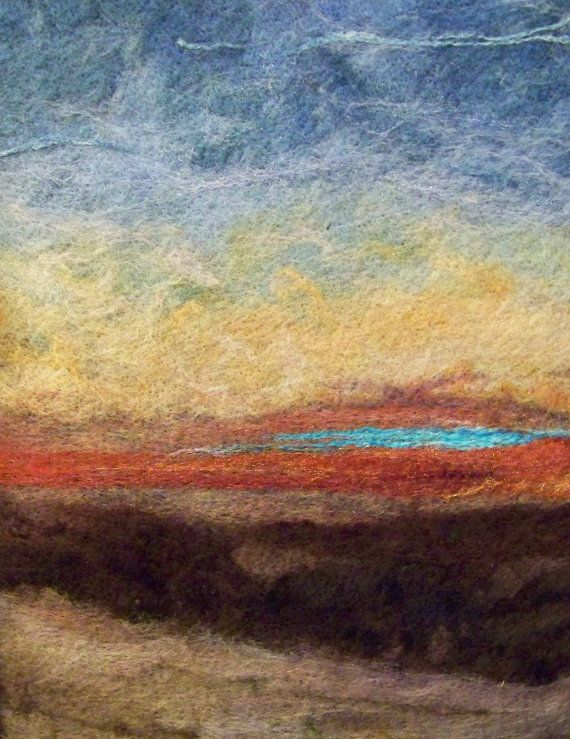 Sunset One  Needlefelt Art by Deebs