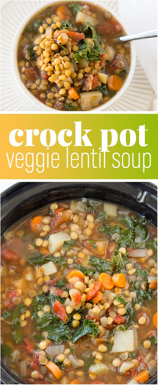 Crock Pot Vegetable Lentil Soup Recipe Crock Pot Vegetables Plant Based Meals And Lentil Soup Recipes