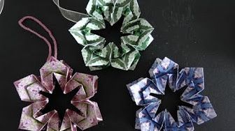 Fröbelstern - How to make an Origami Froebel Star - YouTube