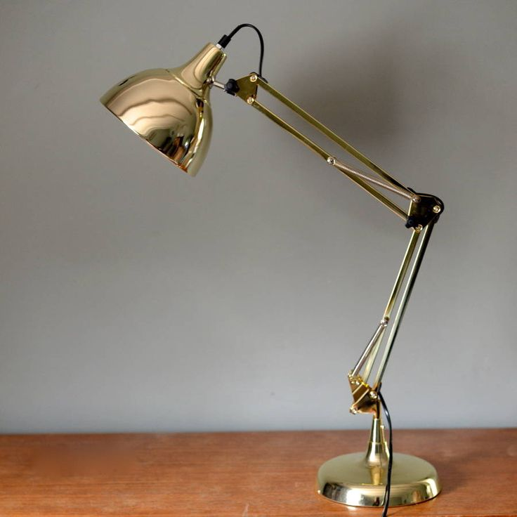 Gold Angled Desk Lamp Desk Lamp Desks And Construction