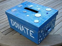 Donation box  - this would be good for the cookie booth to support the charity of choice