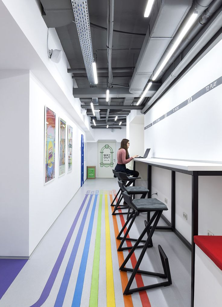Colorful Lines Inspired By The London Underground Will Lead You To Classrooms At This Language SchoolStylish InteriorCoworking