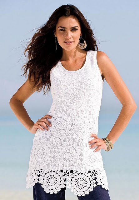 Cute for swimsuit coverup, I want to make a cream or brown one.