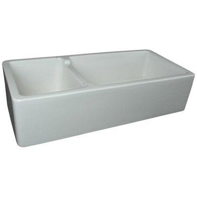 Bella Casa 40 X 18 Fireclay Double Bowl Kitchen Sink