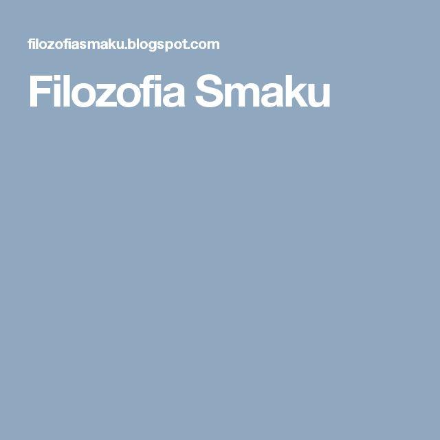 Filozofia Smaku