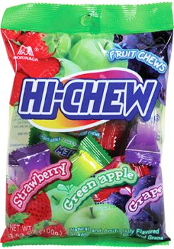 Hi-Chew Candies yum!  Dye free and taste like starbursts or airheads!!