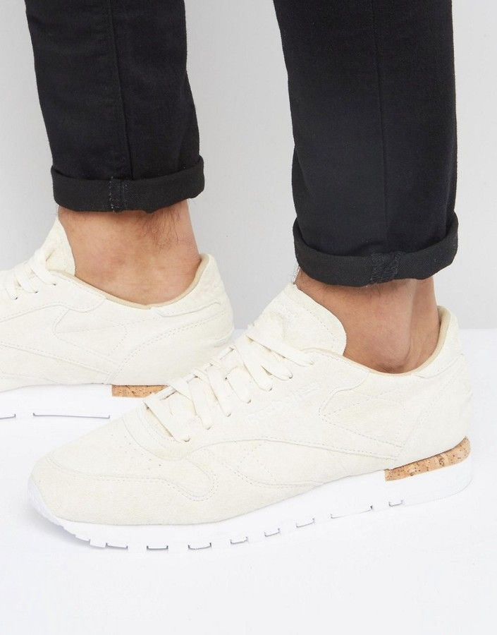 Reebok Classic Leather LST Suede Sneakers In White BD1902