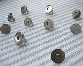 FREE SHIPPING -- 50 sets of 18 mm Nickel/Silver Magnetic Snap Closures. $22.95, via Etsy.