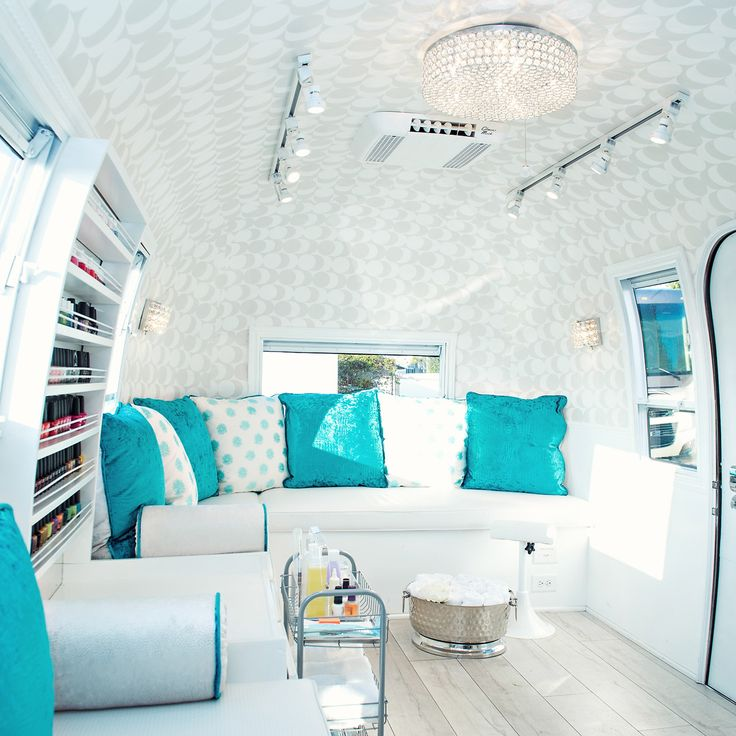 This Adorable Airstream Is Actually A Nail Salonu2026 Nail Salon DecorSalon ...