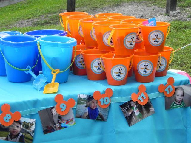 Orange Chevron Aqua Summer Beach Surfer Mickey Mouse Birthday Party Ideas   Photo 15 of 53   Catch My Party