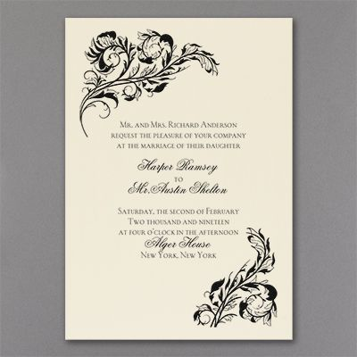30 best ivory wedding invitations images on pinterest ivory elegant touch ivory wedding invitations custom printed with your wording choice of lettering style and stopboris Choice Image