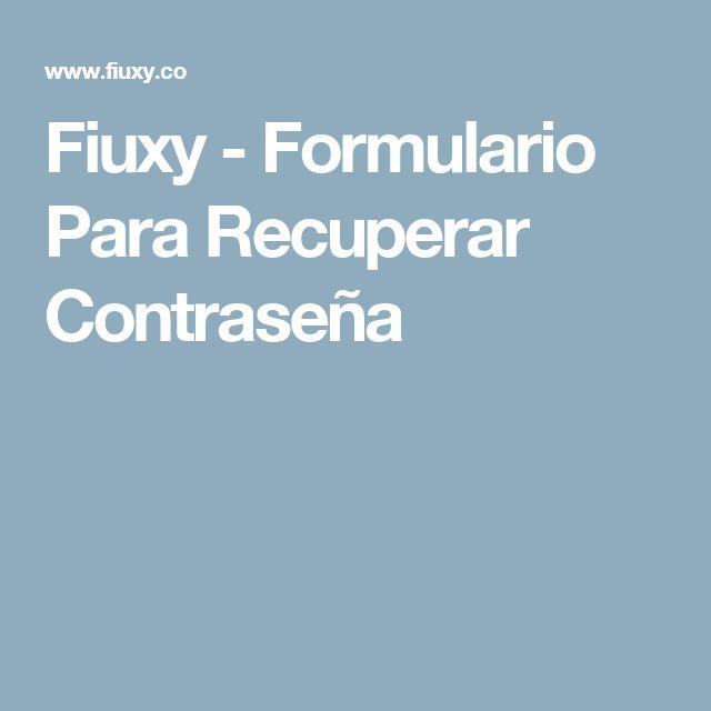 Fiuxy - Formulario Para Recuperar Contraseña