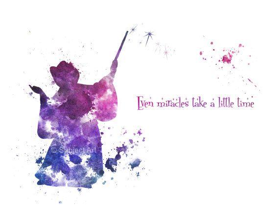 ART PRINT The Fairy Godmother cite Même les par SubjectArt sur Etsy