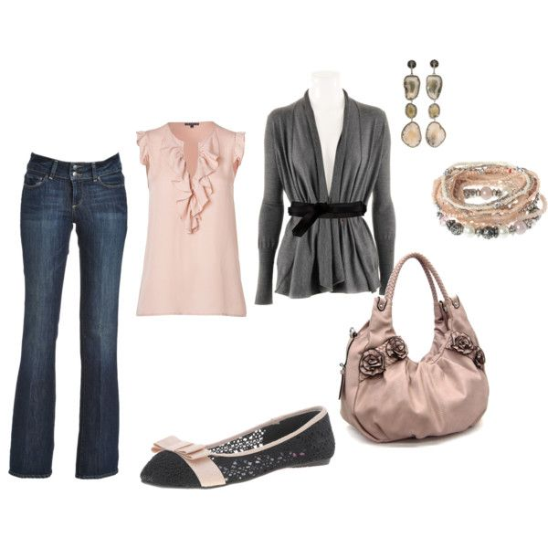 soft pinkClothing Ideas, Casual Outfit, Clothing I D, Lights Pink, Soft Pink, Pink Outfit, Fabulous Fashion, Gray, Style Clothing