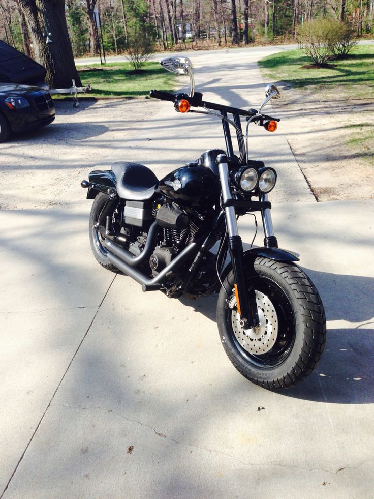 Blacked out Fat Bob - motorbikesforumseecom