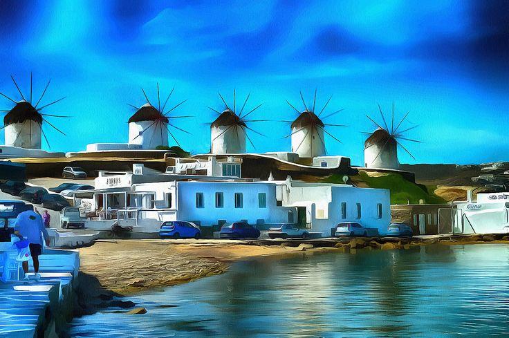 The 5 Windmills Myconos, Greece