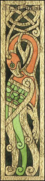 Aon Celtic Art bird panel