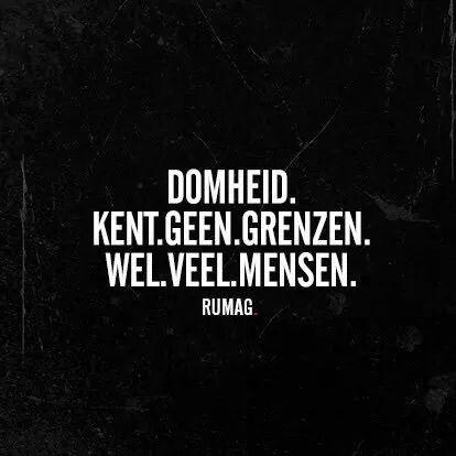 Domheid #Rumag