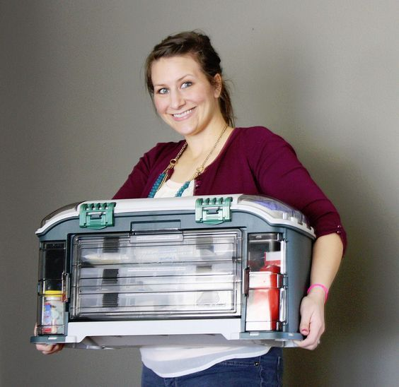 Amazing first aid kit (using a Walmart tackle box!!) with a thorough list of what to put inside!