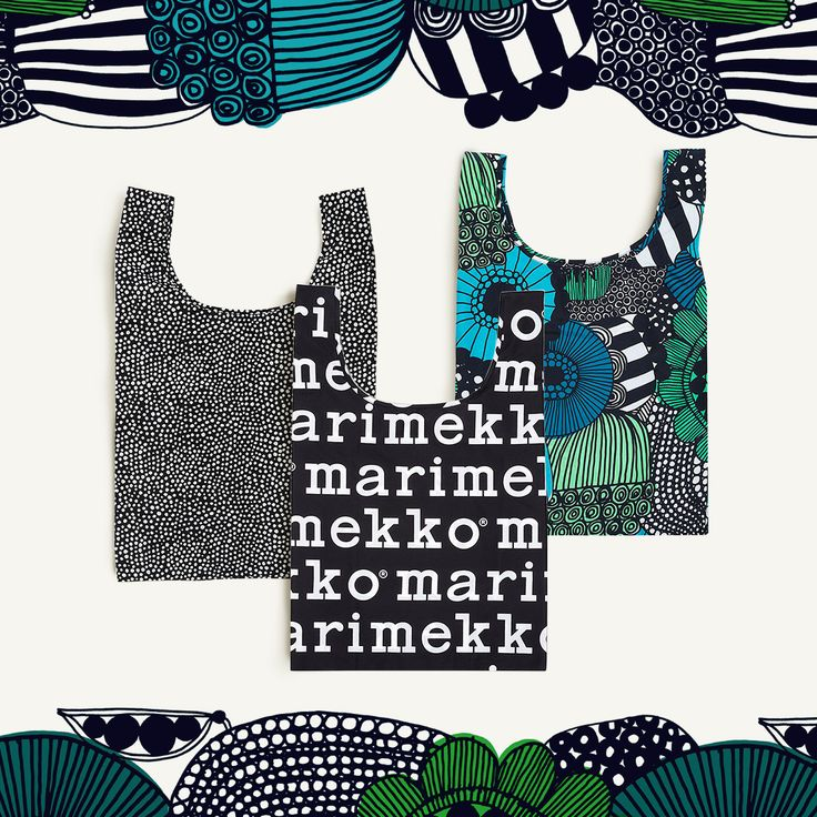 Small change, big impact. The Marimekko reusable bags are no longer just for the grocery store.